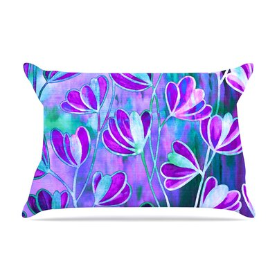 Ebi Emporium Effloresence Pillow Case Color: Blue/Teal