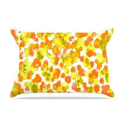 Ebi Emporium Giraffe Spots Pillow Case Color: Orange/Yellow