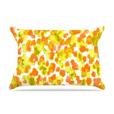 Ebi Emporium Giraffe Spots Pillow Case Color: Orange/Yellow