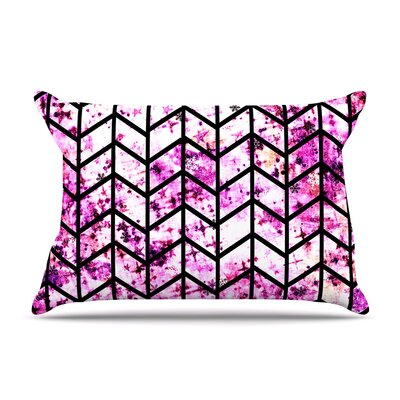 Ebi Emporium Chevron Wonderland Ii Pillow Case Color: Pink
