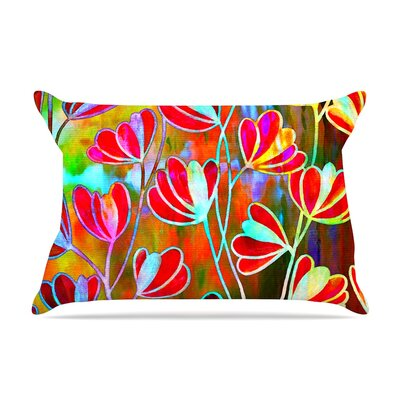 Ebi Emporium Effloresence Pillow Case Color: Red
