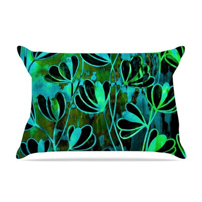 Ebi Emporium Effloresence Pillow Case Color: Lime Green/Black