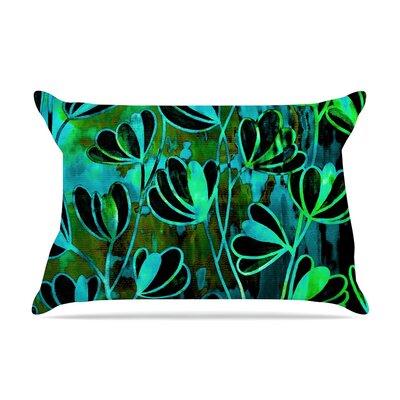 Ebi Emporium Effloresence Pillow Case Color: Lime Green/Black
