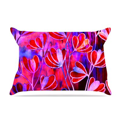 Ebi Emporium Effloresence Pillow Case Color: Magenta/Lavender