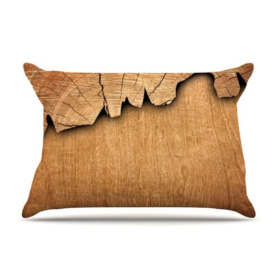 Susan Sanders Natural Wood Rustic Nature Pillow Case