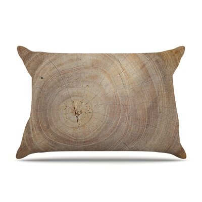 Susan Sanders 'Aging Tree' Wooden Pillow Case