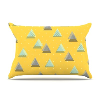 Strawberringo Triangles Geometric Pillow Case