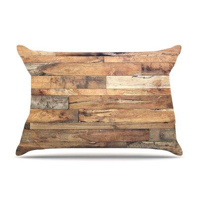 Susan Sanders Campfire Wood Rustic Pillow Case