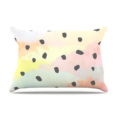 Strawberringo With Dots Pastel Painting Pillow Case