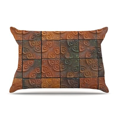 Susan Sanders Whimsy Tile Rustic Pillow Case