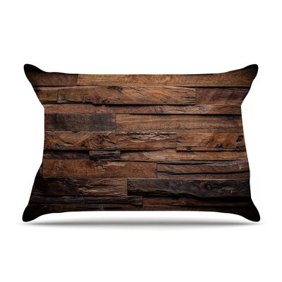 Susan Sanders Espresso Dreams Rustic Wood Pillow Case