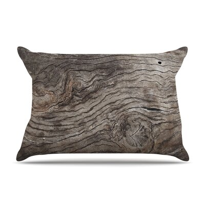 Susan Sanders Tree Bark Wooden Pillow Case