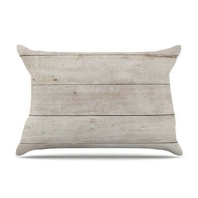 Susan Sanders White Wash Wood Pillow Case