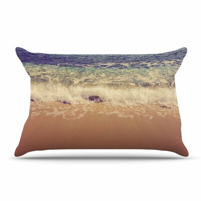 Violet Hudson Crashing Waves Beach Coastal Pillow Case