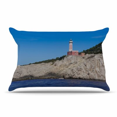 Violet Hudson Happy Lighthouse Coastal Pillow Case