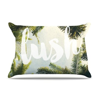 Catherine McDonald Lush Nature Typography Pillow Case
