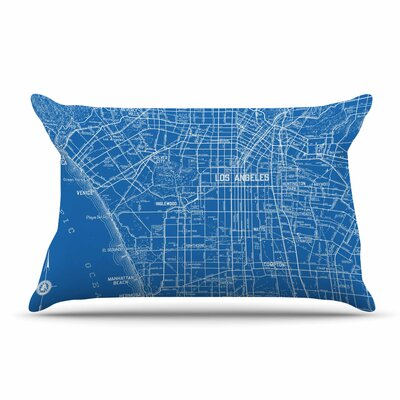 Catherine Holcombe Los Angeles Streets Map Pillow Case
