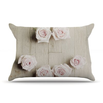 Cristina Mitchell 'Smile' Wood Roses Pillow Case