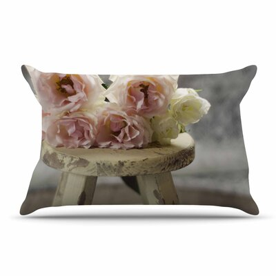 Cristina Mitchell Roses On Stool Floral Photography Pillow Case