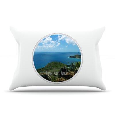 Deepti Munshaw Roam Relax Renew Ocean Pillow Case