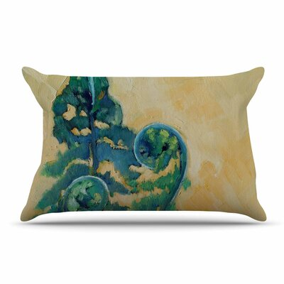 Carol Schiff Fiddleheads Pillow Case