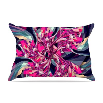 Danny Ivan 'Purple Spiral' Geometric Pillow Case