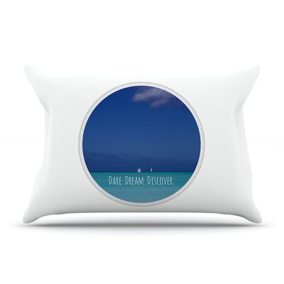 Deepti Munshaw Dare Dream Discover Pillow Case