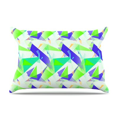 Alison Coxon Confetti Triangles Pillow Case Color: Green/Teal