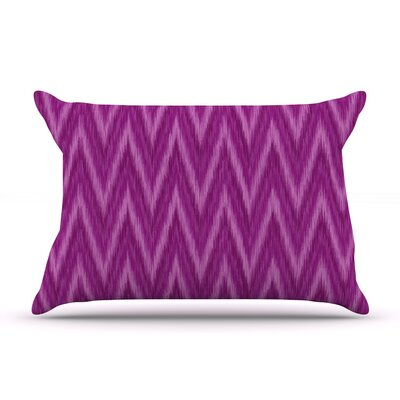 Amanda Lane Plum Chevron Fuschia Pillow Case