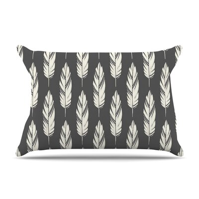 Amanda Lane Feathers Dark Pillow Case