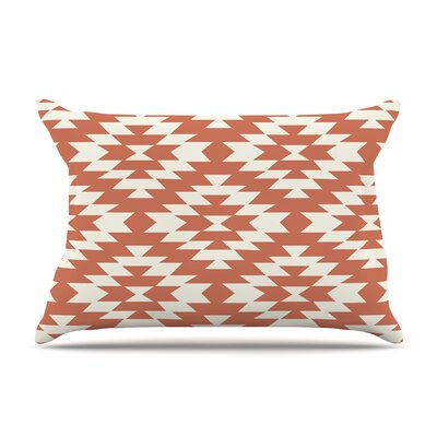 Amanda Lane Southwestern Toasted Coral Tribal Pillow Case