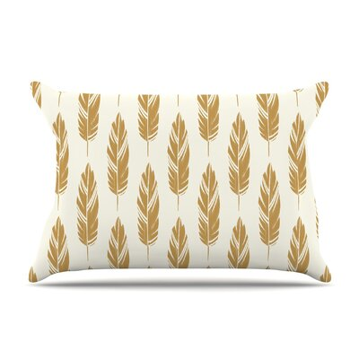Amanda Lane Feathers Mustard Pillow Case
