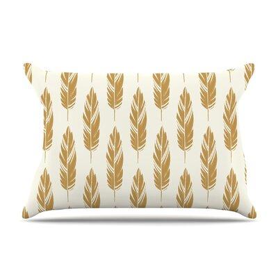 Amanda Lane Feathers Mustard Pillow Case