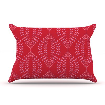 Anneline Sophia Laurel Leaf Floral Pillow Case