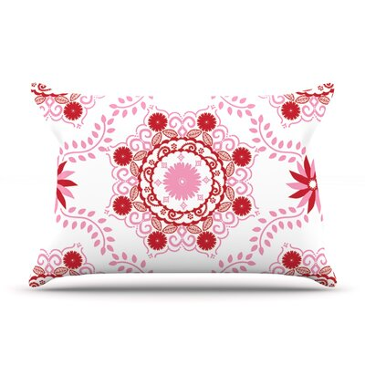 Anneline Sophia LetS Dance Pillow Case Color: Red/Pink