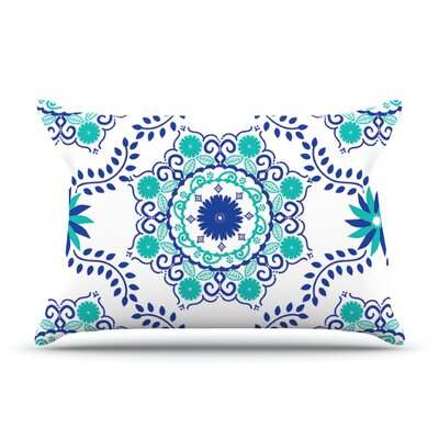 Anneline Sophia LetS Dance Pillow Case Color: Blue/Teal