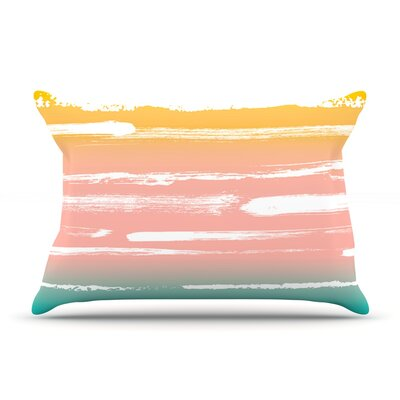 Anneline Sophia Painted Stripes Peach Pillow Case