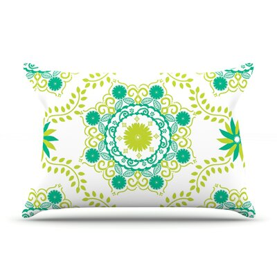 Anneline Sophia LetS Dance Pillow Case Color: Green/Teal