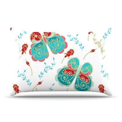 Anneline Sophia Leafy Butterflies Butterfly Pillow Case