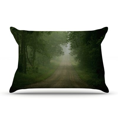 Angie Turner Foggy Road Forest Pillow Case