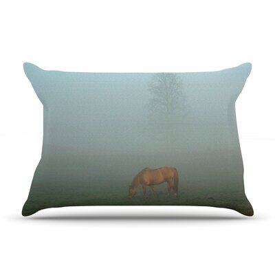 Angie Turner Horse In Fog Mist Pillow Case