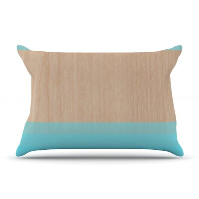 Brittany Guarino Art Blue Wood Pillow Case