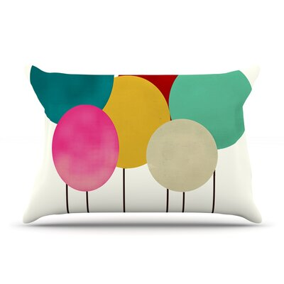 Bri Buckley Celebration Rainbow Circles Pillow Case