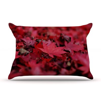 Angie Turner Red Leaves Leaf Pillow Case