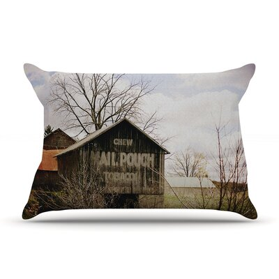 Angie Turner Mail Pouch Barn Wooden House Pillow Case