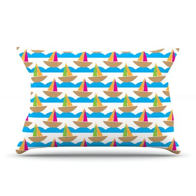 Apple Kaur Designs Beside The Seaside Boats Pillow Case