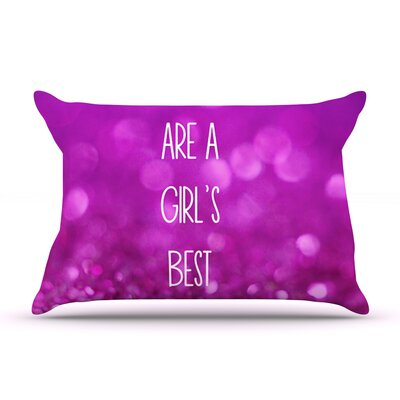 Beth Engel Sparkles Are A Girls Best Friend Glitter Pillow Case
