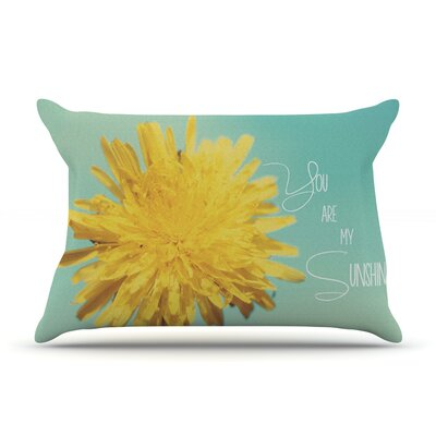 Beth Engel You Are My Sunshine Flower Pillow Case