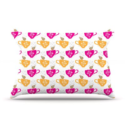 Apple Kaur Designs Tea-Birds Pillow Case