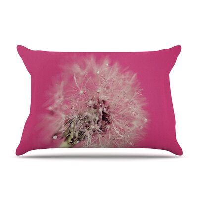 Beth Engel Pink Twilight Dandelion Pillow Case